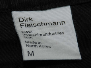 Made in North Korea label