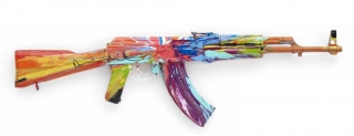 Damien Hirst: Spin AK-47 for Peace One Day, 2012 (64 × 87.5 × 26.5 cm)