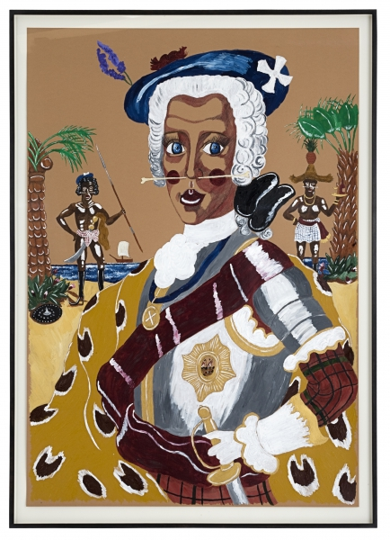 Bonnie Prince Charlie, 1745 (watercolour, acrylic & pen on paper, 100 x 70 cm) ©2012 Andrew Gilbert