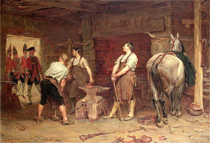 """John Seymour Lucas: \""""After Culloden - Rebel Hunting\"""", oil on canvas, 1884"""
