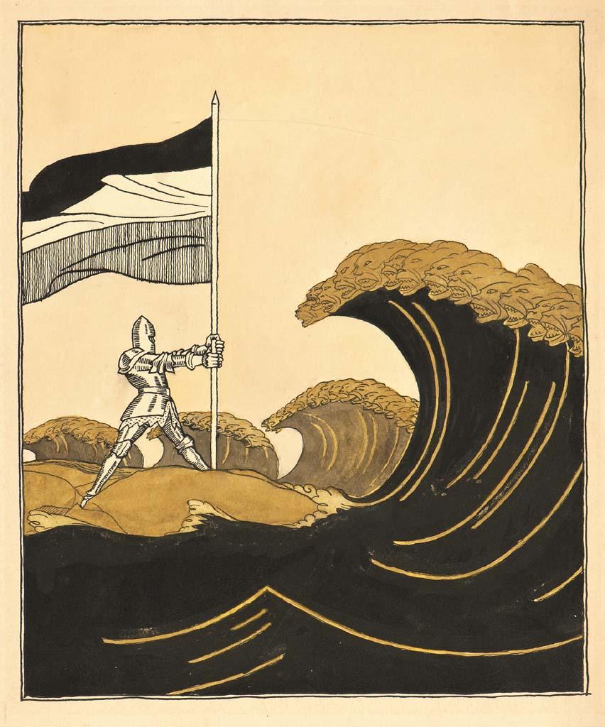 Olaf Gulbransson, Deutsche Wacht in Kiautschau, 1914, Karikaturmuseum Wilhelm Busch