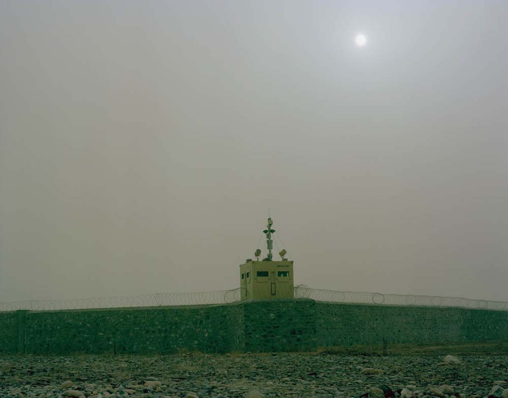 © Jo Röttger: Afghanistan, Camp Fayzabad, watchtower on the southern perimeter strip of the base