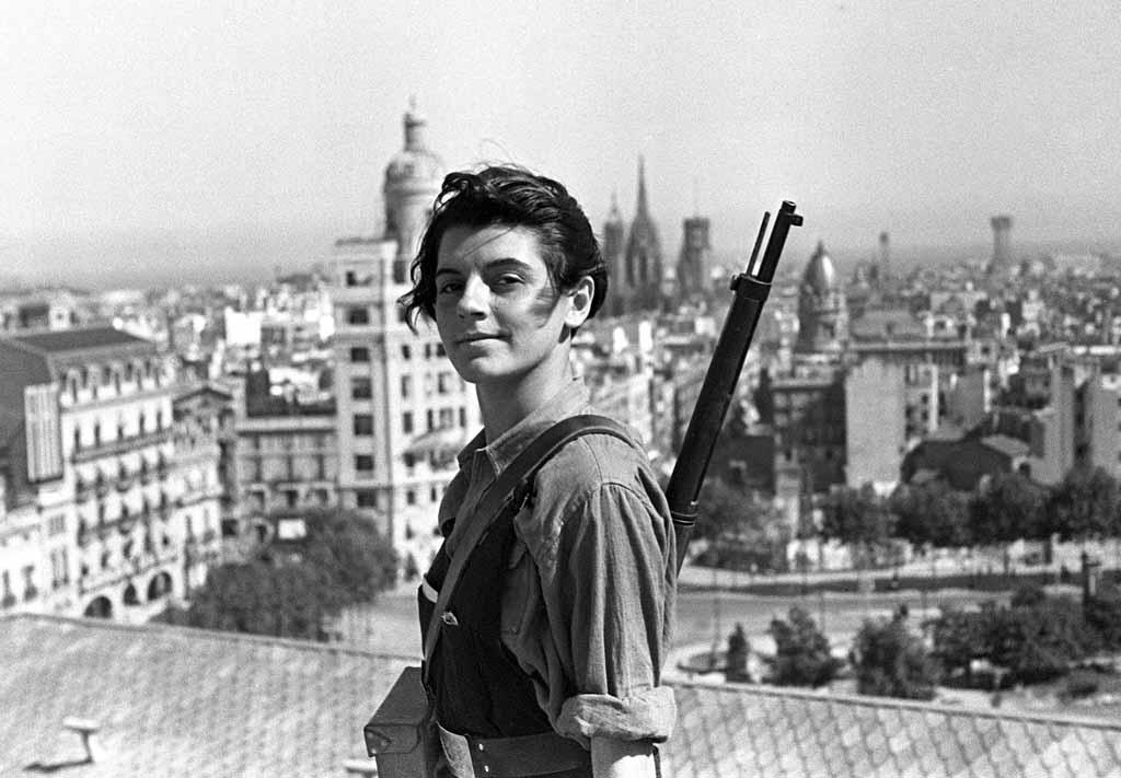 Guerra civil espaã ola: los republicanos barcelona, 21-7-1936.- la