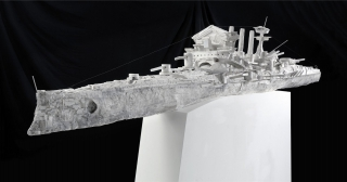 Panthersprung II (© 2004 Alexander Seiler, plaster, 75x65x475 cm)