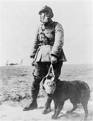 French Soldier with his Dog, Word War I