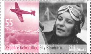 Elly Beinhorn's record flight, German commemorative stamp