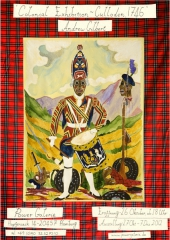 """Andrew Gilbert: Colonial Exhibition - Culloden 1746"" Invitation Poster"