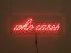 who cares, 70x25cm (© 2011 Katharina Arndt)